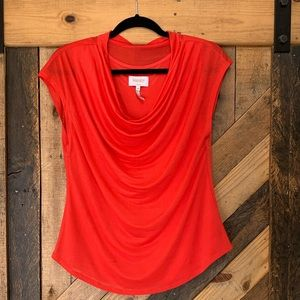 Laundry by Shelli Segal | Coral Cowl Neck Blouse